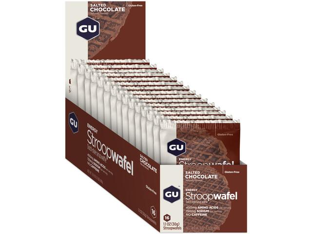 GU Energy StroopWafel Box 16x30/32g, Salted Chocolate
